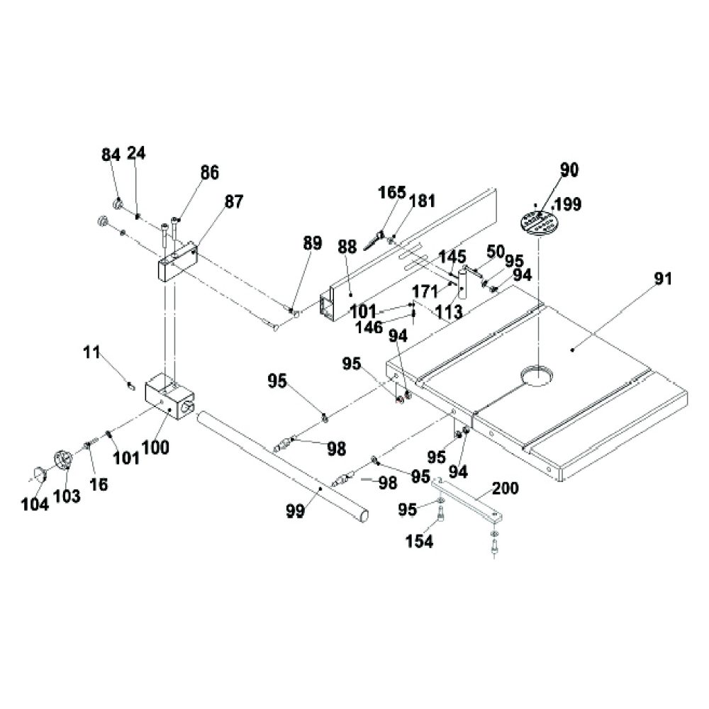 Buy Rikon Model 10 325 Replacement Parts P 51 Engine Diagram