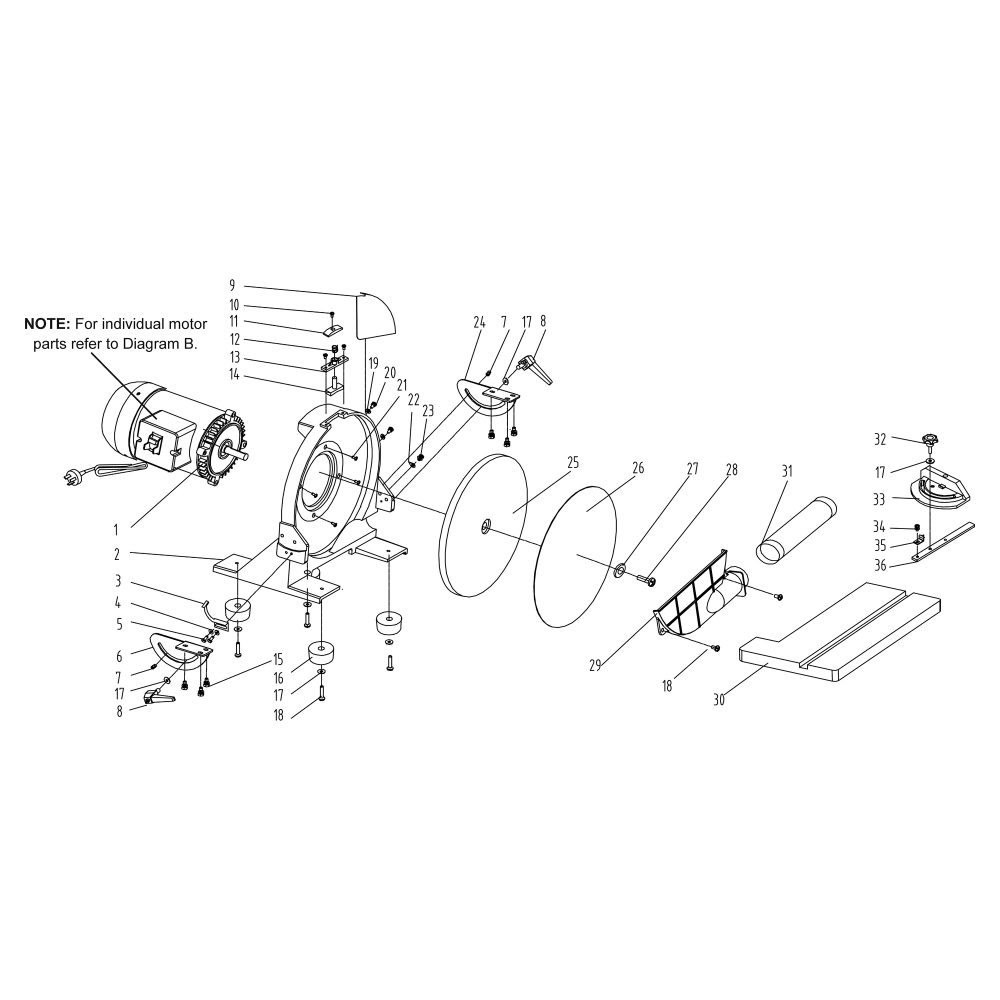 Buy Rikon Model 51 202 Replacement Parts Scroll Saw Diagram